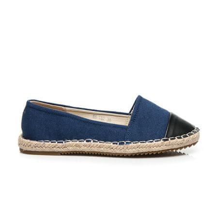 Női balerina cipő 2394, kék árnyalat, 37