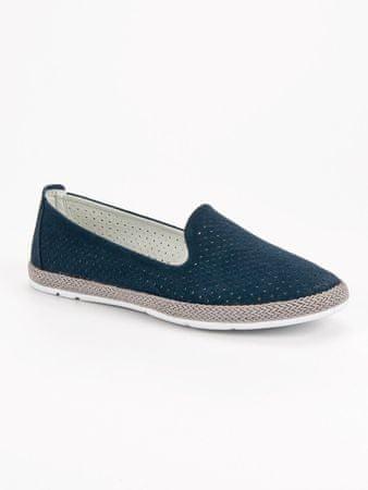 Női balerina cipő 50940, kék árnyalat, 36