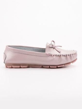 Női mokaszin 52573 + Nőin zokni Gatta Calzino Strech, rózsaszín árnyalat, 38