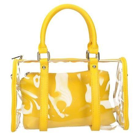 Torebka damska do ręki 53476, odcienie żółtego i złota, UNIWERSALNY