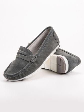 Női mokaszin 52571 + Nőin zokni Sophia 2pack visone, szürke és ezüst árnyalat, 36