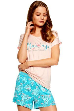 Henderson Női pizsama 36789 Trophy 03x + Nőin zokni Sophia 2pack visone, rózsaszín, M