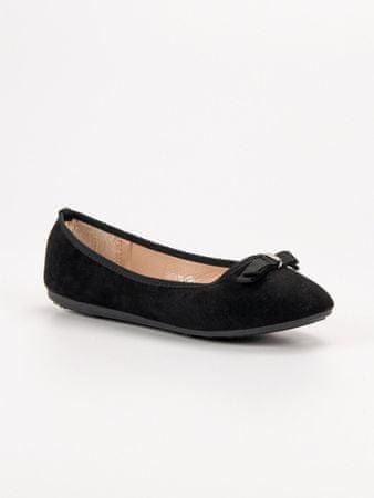 Női balerina cipő 54435, fekete, 38