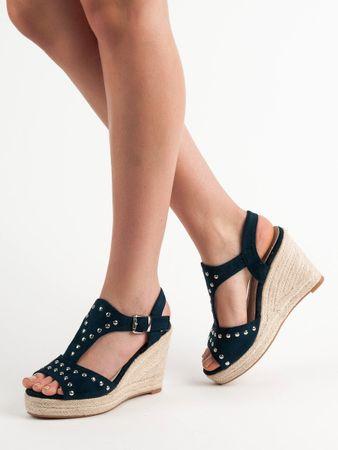 Sandały damskie 54658 + Skarpetki Gatta Calzino Strech, odcienie niebieskiego, 36