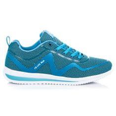 Ľahké modré tenisky na pohodlnej podrážke