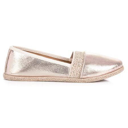 Női balerina cipő 41376, sárga és arany árnyalat, 40