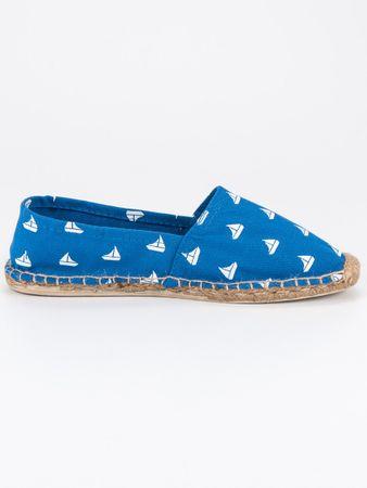 Modré espadrilky, odstíny modré, 36