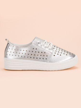 Női tornacipő 51721, szürke és ezüst árnyalat, 36
