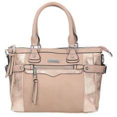Klasická růžová kabelka na rameno