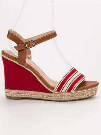 Női szandál 54779 + Nőin zokni Sophia 2pack visone, piros árnyalat, 40