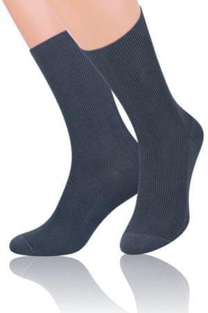 Női térdzokni és zokni 018 graphite + Nőin zokni Gatta Calzino Strech, grafit, 39/42