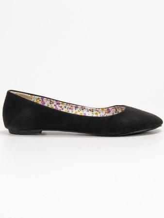 Női balerina cipő 55879, fekete, 36
