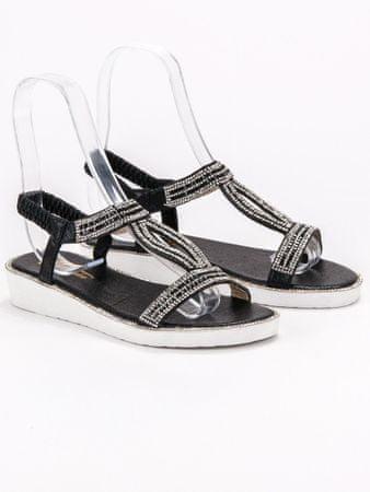 Sandały damskie 56617, czarny, 37