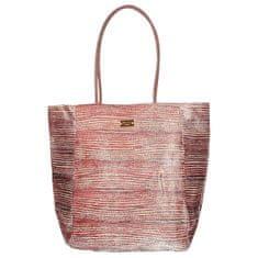 Růžová třpytivá plážová taška