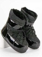 Klasické dámské sněhule černé bez podpatku