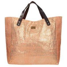 Velká oranžová třpytivá plážová taška + dárek zdarma