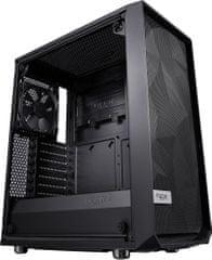 Fractal Design Meshify C Blackout TG, sklo, čierna