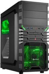 Sharkoon VG4-W, čierno-zelená