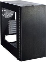Fractal Design Define S, okno, čierna