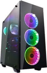 FSP group Fortron CMT510, priehľadná bočnica, 4x RGB LED 120 mm, čierna