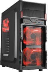 Sharkoon VG5-W, čierno-červená