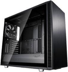 Fractal Design Define S2 Blackout, okno, čierna