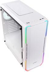 BitFenix Enso RGB, Tempered Glass, biela