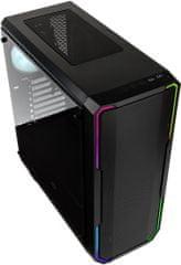 BitFenix Enso Mesh RGB, Tempered Glass, čierna
