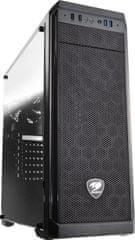 Cougar MX330, okno, čierna