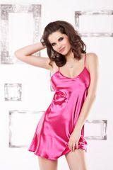 DKaren Saténová košilka Karen pink růžová