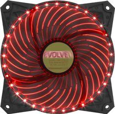 Evolveo Ventilátor 120mm, LED 33 bodov, červený