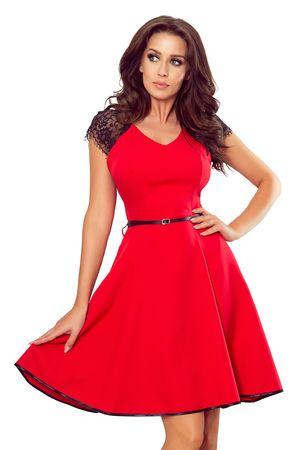 Numoco Dámske šaty 254-2, čierno-červená, XL