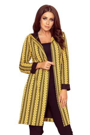 Numoco Női kabát 218-2 + Nőin zokni Gatta Calzino Strech, fekete-sárga, S