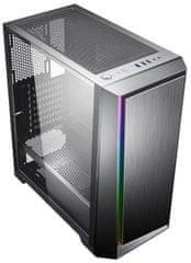 Eurocase MLG Paladin RGB, okno, čierna