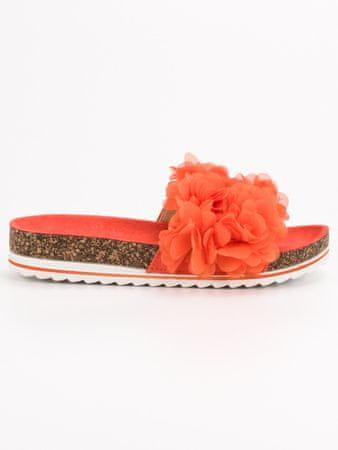 Női papucs 53354, narancssárga árnyalat, 36