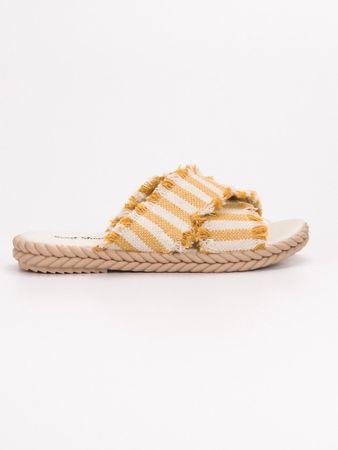 Női papucs 54089, sárga és arany árnyalat, 39