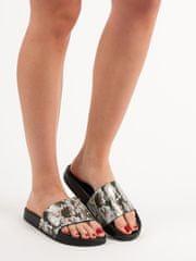 Moderní dámské vícebarevné nazouváky bez podpatku