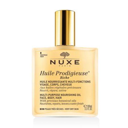 Nuxe Huile Prodigieuse Riche multifunkciós száraz olaj extra száraz arcbőrre (Multi-Purpose Nourishing Oi