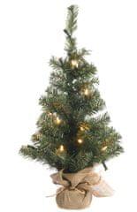 Kaemingk Mini vánoční stromeček se světýlky, 20 LED, 60 cm