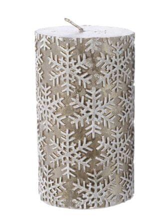 """Kaemingk """"Snežinka"""", božična svečka, kašmirsko rjava"""