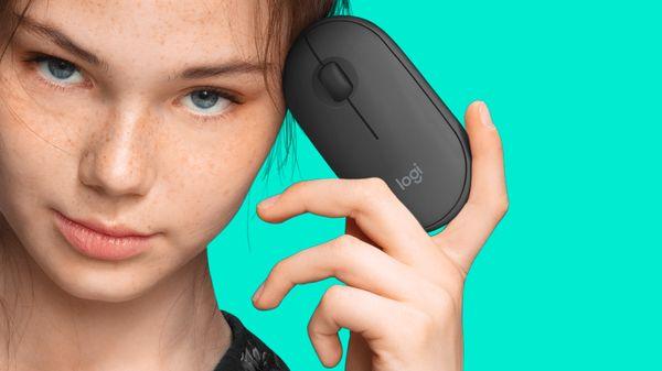 Klávesnice a myš Logitech MK470 Slim Wireless Combo, CZ kompaktní, minimalistický design, štíhlý, přenosný, nízká hmotnost