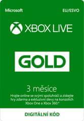 Microsoft Xbox Live zlaté členství 3 měsíce - elektronicky (S2T-00009)