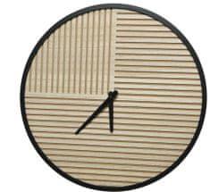 Kaemingk Nástenné hodiny s pruhmi, 40x5 cm, drevené