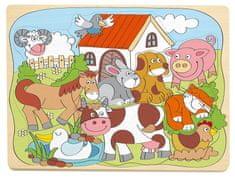 Woody Puzzle na doske Domáce veselé zvieratká