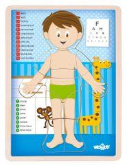 Woody Puzzle Ľudské telo - Chlapec SK