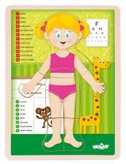 Woody Puzzle Ľudské telo - Dievča CZ