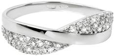 Brilio Prstan iz belega zlata s kristali 229 001 00729 07 Belo zlato 585/1000