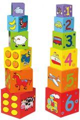 Viga drvene kocke za sastavljanje, 6 komada
