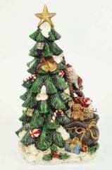 DUE ESSE Vianočný svietiaci stromček 25 cm, polyresín