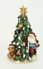 DUE ESSE Vianočný svietiaci stromček Santa 30 cm, polyresín